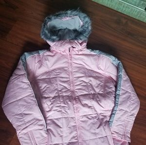 CHEROKEE GIRLS 14 WINTER WARM SNOW FUR HOOD JACKET